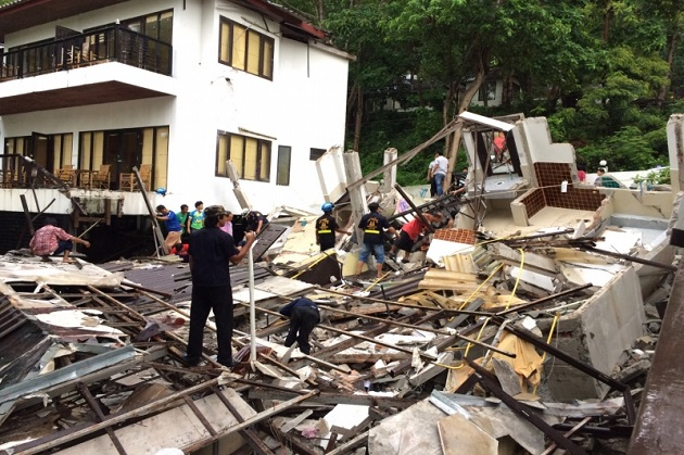 One dead, many injured after Koh Chang guest house collapses